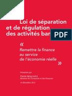 Loi de séparation et de régulation des activités bancaires