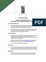 Access Radio and Regional Tv Consultation Paper