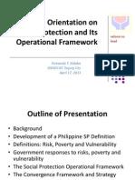 Revised Orientation Session on Social Protection Operational Framework - 17 April 2013