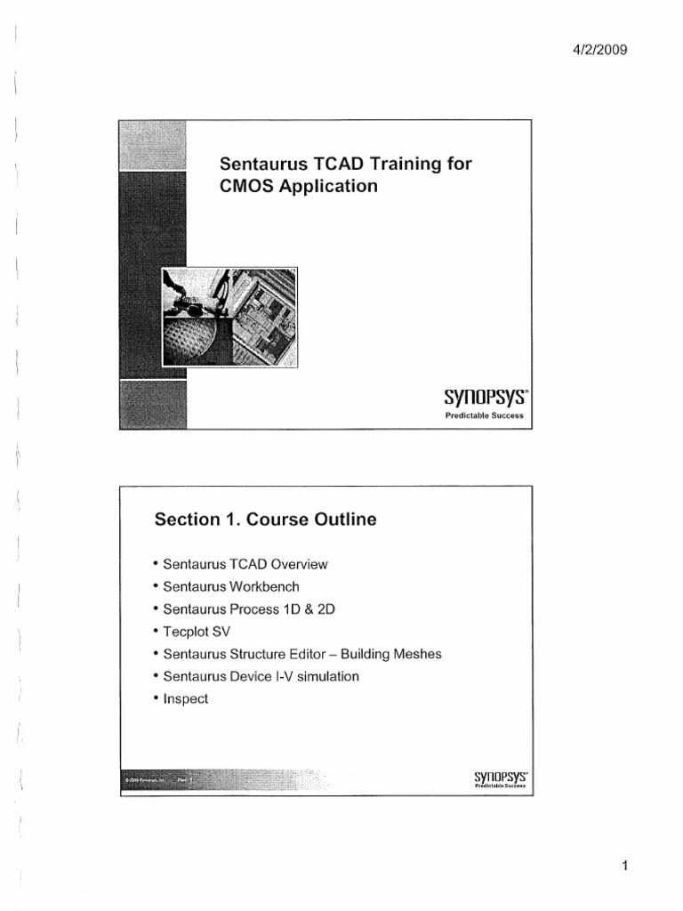 sentaurus tcad training for cmos application synopsys 2009 ocr rh scribd com sentaurus process user guide pdf Sentaurus Mortgage