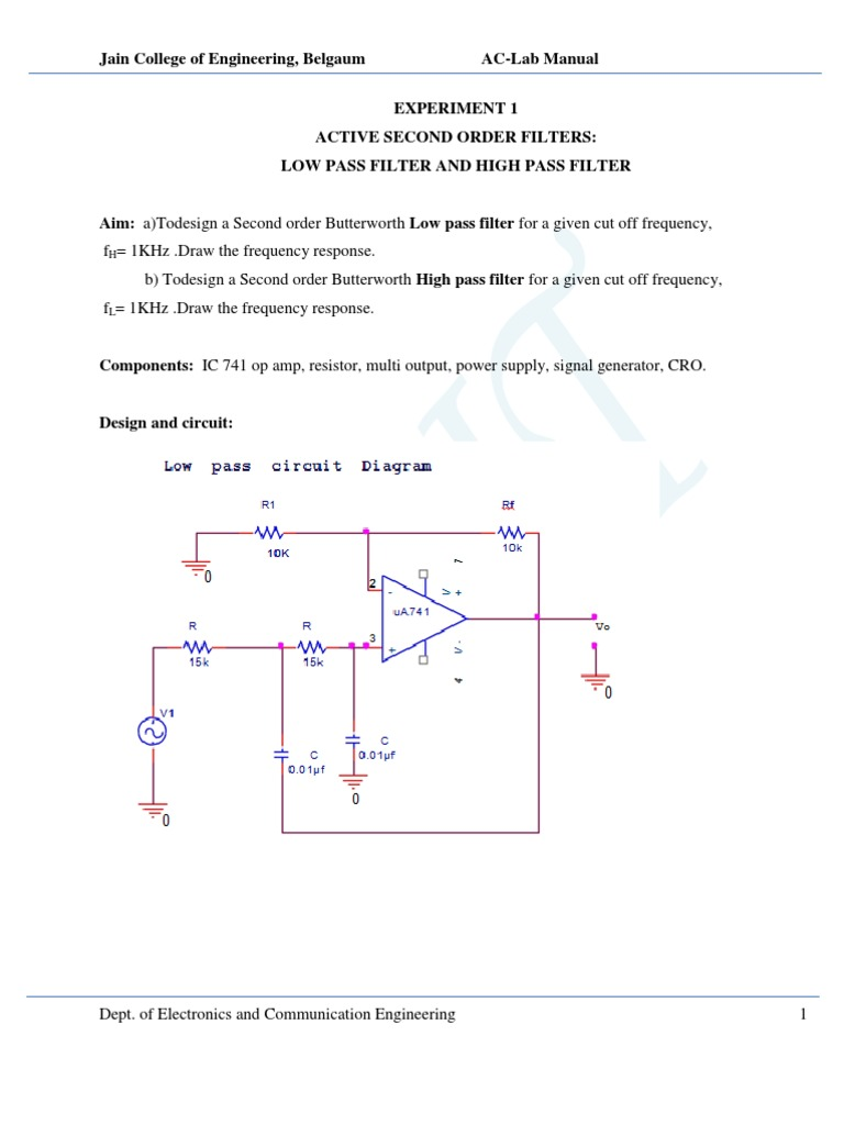 What Is The Cut Off Frequency Of The Rc Filter In This Circuit