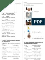 Examen Práctica Inglés 4 2do Indicativo