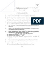 9A23405 Bioprocess Engineering