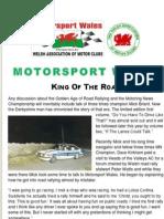 Motorsport Wales Newsletter