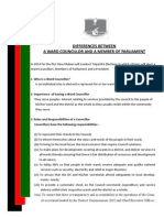 Ward Councillor and MP Roles and Responsibilities 2014 Tripartite