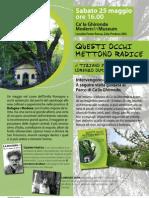 """Presentazione """"Questi occhi mettono radice. Alberografie nel cuore dell'Emilia Romagna"""" 25 maggio Ca' la Ghironda ModernArtMuseum"""