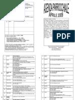 Programma Parrochiale - Aprile 2009