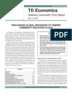 Quarterly Commodity Price Report