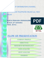 Analysis of Distribution Channel of MTNL