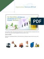 Impressions Services (P) Ltd - Company Catalog