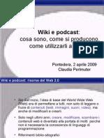 Presentazione Primo incontro - Corso Wiki e podcast