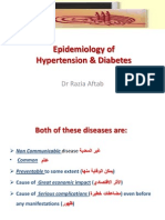 Epidemiology of Hypertension & Diabetes