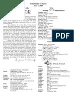 May 5, 2013 Bulletin