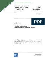 BSEN 60598-2-3 for Luminaires