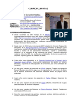 Curriculum Miguel Gonzalez