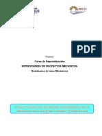 Proyecto Curso Especialización Supervisores de Proyectos Mecánicos