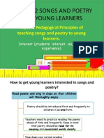 Lga 3102 Songs and Poetry for Young Learners Topic 4