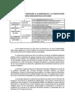 Tema 12. El proceso de transición a la democracia y la Constitución de 1978. Los gobiernos democráticos (1979-2000) PDF