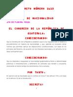 LEY DE NACIONALIDAD DECRETO 1613