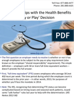 Coming to Grips with the Health Benefits 'Pay or Play' Decision