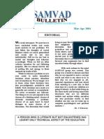 Samvad Bulletin