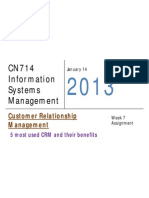Customer RelationshipManagement - 5 most used CRM and their benefits