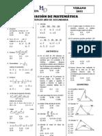 Evaluacion de Matematica 3er Ano