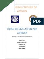 PROYECTO DE ORGANIZACIÓN DEL APRENDIZAJE