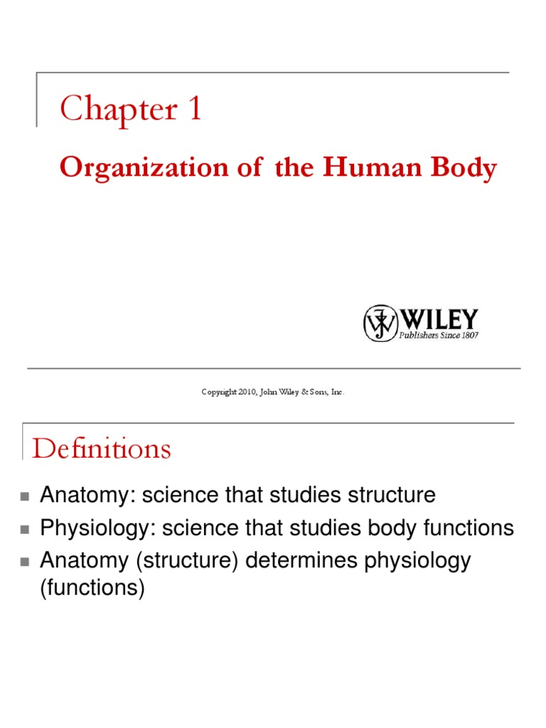 Ch01-Organization of the Human Body | Anatomical Terms Of Location ...