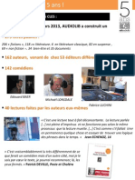 Dossier de Presse pour les 5 Ans d'Audiolib