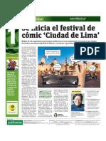 Se Inicia festival de Comic Ciudad de Lima