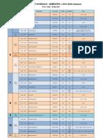 CoCM Midterm Exam Schedule Sem1-2013 (Intranet) - 11 Mar2013