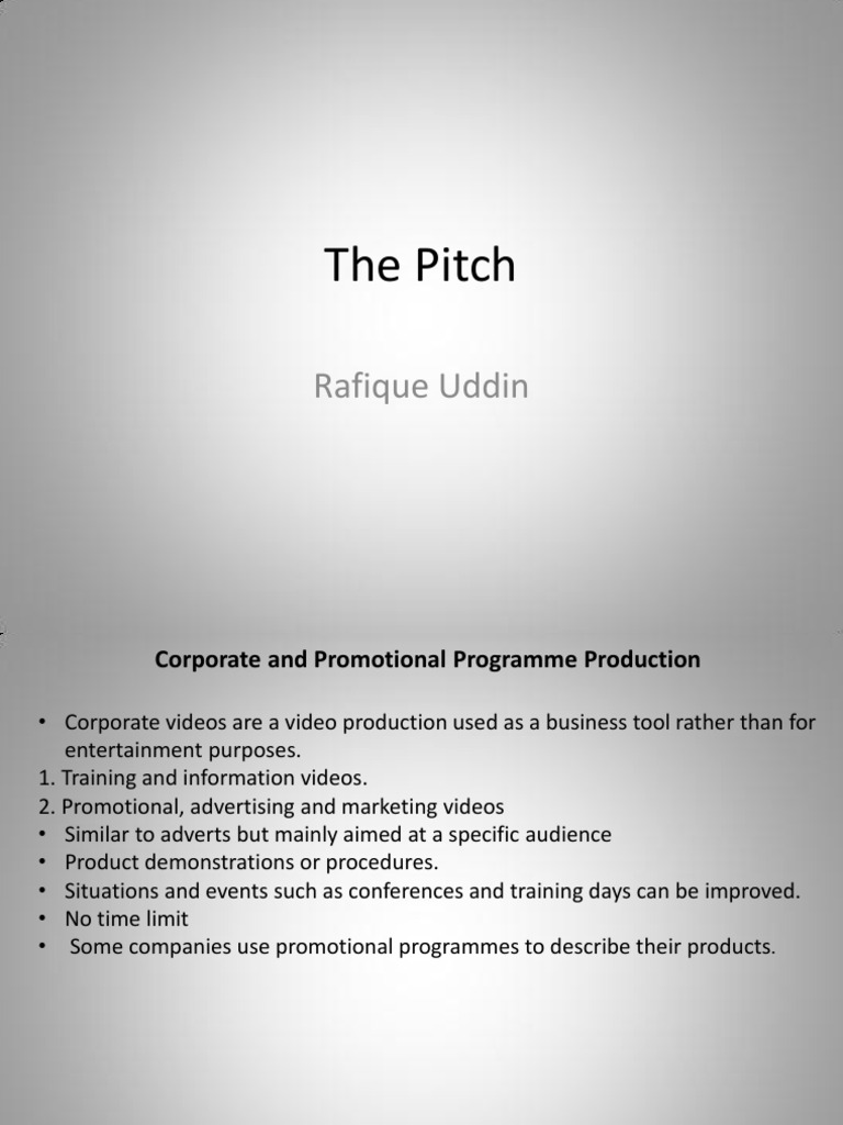 Pitch | Mass Media | Target Audience | Free 30-day Trial ...