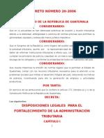 DISPOSICIONES LEGALES PARA EL FORTALECIMIENTO dto-20-2006