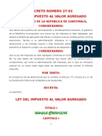 LEY DEL IVA DECRETO 27-92