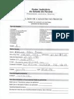 Formulário TJPR