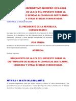 to de La Ley Del Impuesto Sobre La Distribucion de Bebidas AG 205-2004