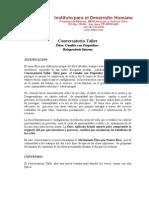 JUSTIFICACIÓN Y CONTENIDO  CONVERSATORIO ÉTICA