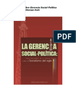 Reseña del Libro Gerencia Social de Andrés Giussepe