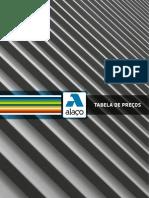 ALAÇO Tabela preços - 2011