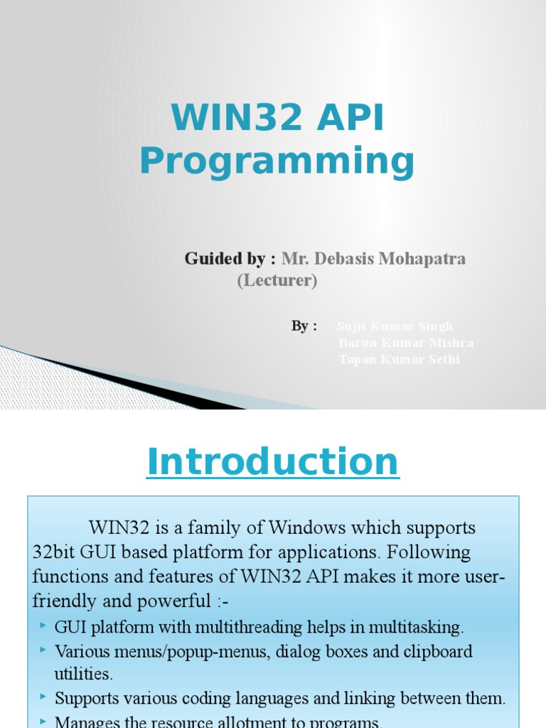 WIN32 API Programming | Graphical User Interfaces
