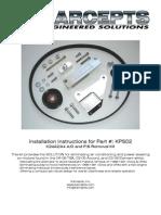 KPS02 Installation Instructions