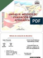 UNIDAD III Presnetacion de Alternativas