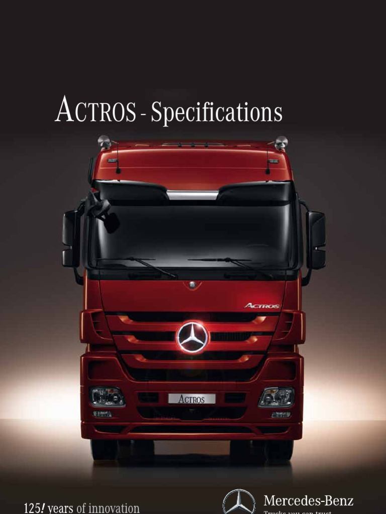 ACTROS Specifications | Manual Transmission | Transmission