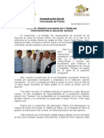 04 /02/11 Germán Tenorio Vasconcelos EXHORTA TENORIO VASCONCELOS A TRABAJAR CON PASIÓN POR LA SALUD DE  OAXACA
