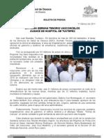 11/02/11 Germán Tenorio Vasconcelos entrega Secretario de Salud Avance Del Hospital de Tuxtepec