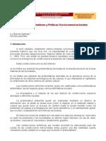 Globalización, Ambientalismo y Políticas Sociocomunicacionales.