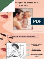 Signos de Alarma en El Puerperio Edu Obstetricia