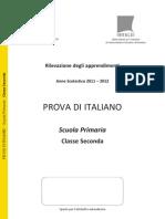 Italiano SECONDA Primaria SNV2012