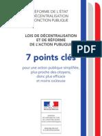 7 points clés pour une action publique simplifiée, plus proche des citoyens, donc plus efficace et moins coûteuse